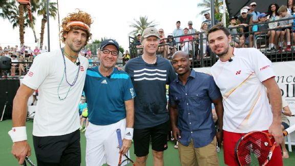 Novak Djokovic, Kevin Spacey, Will Ferrell, Timothy Bradley Jr. and Stanislas Wawrinka