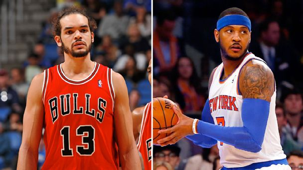 Joakim Noah and Carmelo Anthony