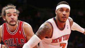 Joakim Noah and Carmelo Anthony