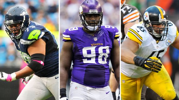 Red Bryant, Letroy Guion, Al Woods