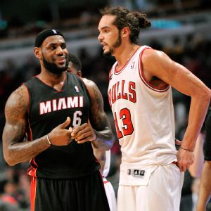 LeBron James and Joakim Noah
