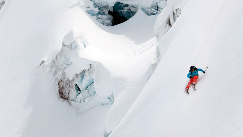 Pro skier Nat Segal from Australia will be part of the Greenland expedition team.