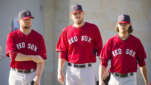 Jon Lester, John Lackey, and and Clay Buchholz