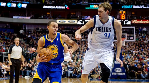 Stephen Curry and Dirk Nowitzki