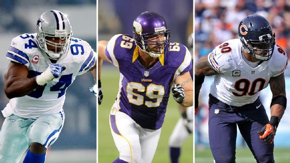 DeMarcus Ware, Jared Allen and Julius Peppers