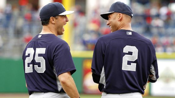 Mark Teixeira and Derek Jeter