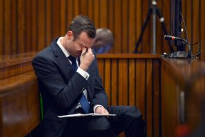 Oscar Pistorius has been visibly shaken up during his murder trial.