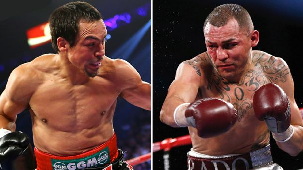 Juan Manuel Marquez and Mike Alvarado