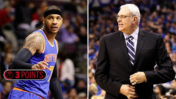 Carmelo Anthony and Phil Jackson