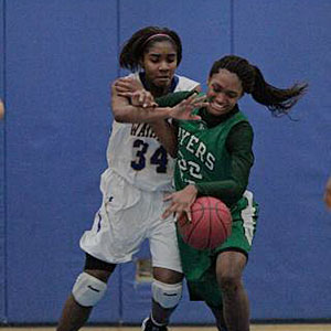 Rydeiah Rogers averages a double-double and is Myers Park's leading rebounder.