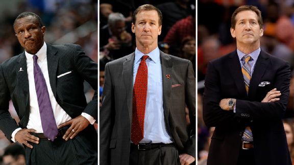Dwayne Casey, Terry Stotts and Jeff Hornacek