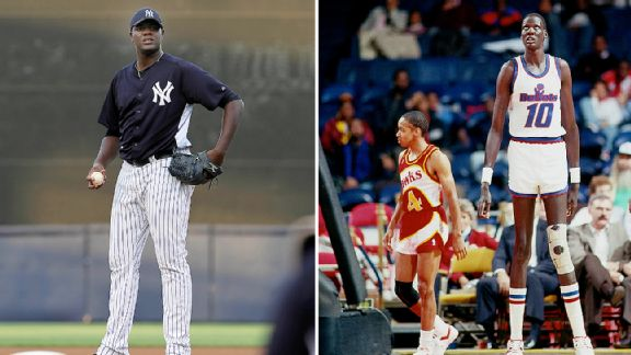 Michael Pineda and Manute Bol