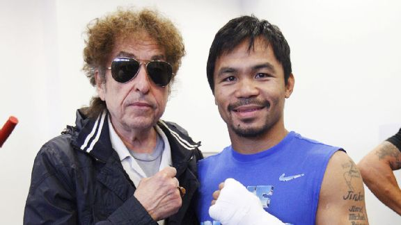Bob Dylan, Manny Pacquiao