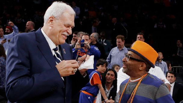 Phil Jackson and Spike Lee