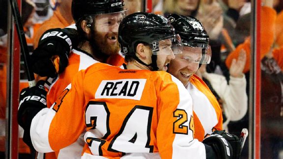 Matt Read, Sean Couturier, Claude Giroux