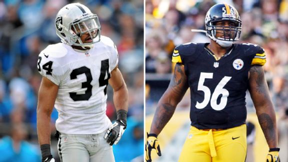 Mike Mitchell, LaMarr Woodley