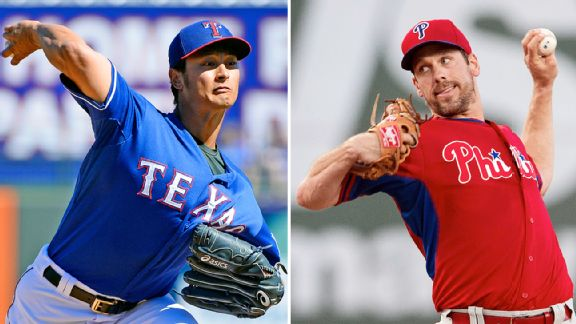 Yu Darvish and Cliff Lee
