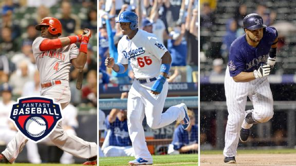 Brandon Phillips, Yasiel Puig and Wilin Rosario