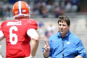 Will Muschamp and Jeff Driskel