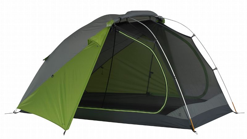 Part of the new TraiLogic collection, this two-person, three-season tent is compact and lightweight so it folds up easily and won't hog space in your pack. Set up is simple with the color-coded snap clips while internal pockets provide a place to stash your stuff. Huge mesh walls are ideal for optimum airflow and the Stargazing Fly gives a wonderful view of the nighttime sky.