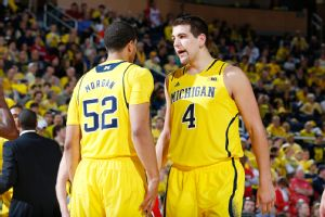 Mitch McGary and Jordan Morgan