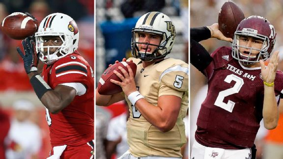 Teddy Bridgewater, Blake Bortles, and Johnny Manziel