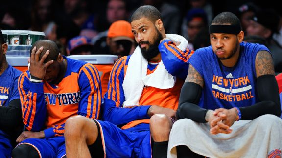 New York Knicks dejected