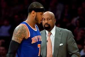 Carmelo Anthony and Mike Woodson