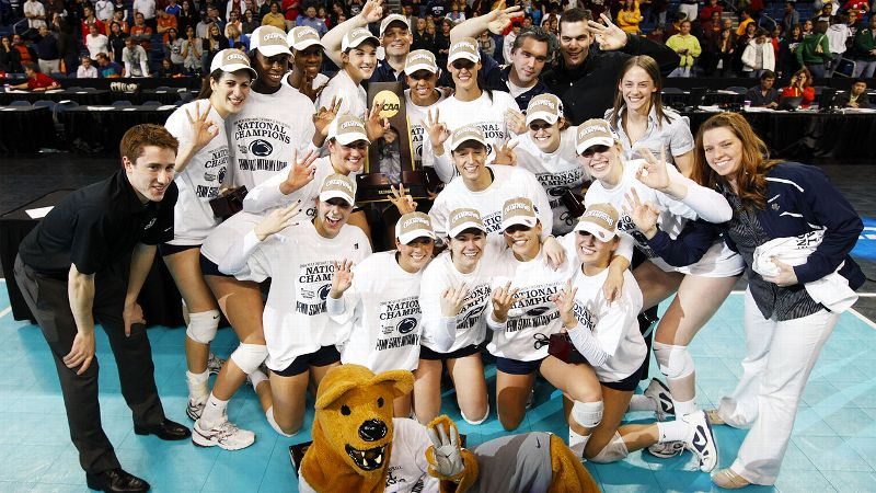 Penn State entered the 2008 season as the defending national champion, and not only did the Lady Lions defend their national title, they compiled perfect records in both 2008 AND 2009. During the 38-0 run in 2008, Penn State became the first college volleyball team in any division to win every set in the regular season. Penn State lost just two sets in the postseason, during a semifinal match against Nebraska. With a 38-0 record in 2009, Penn State became the first women's volleyball team in NCAA history to have multiple perfect seasons.