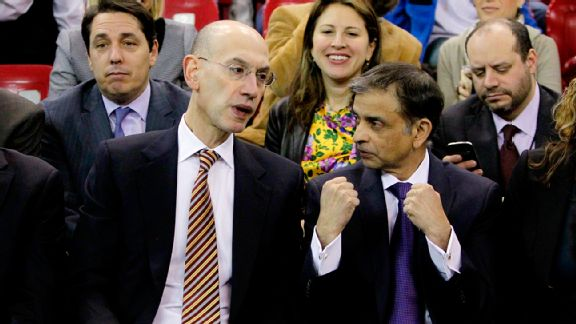 Adam Silver and Vivek Ranadive