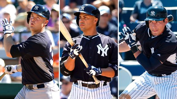 and Jacoby Ellsbury are among the new faces in the Yankees' lineup