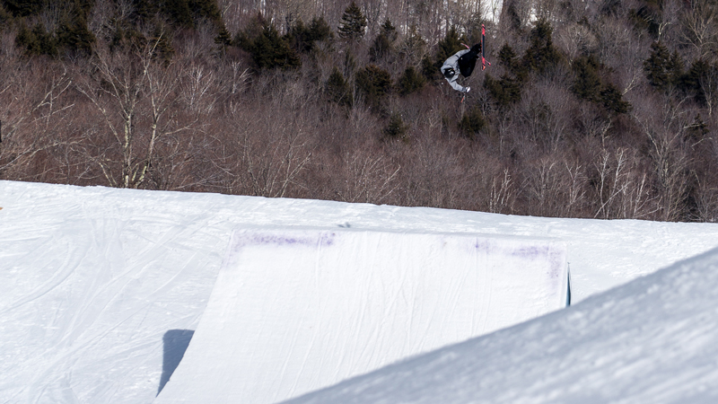 Dumont cup winner Gus Kenworthy throws one of his winning tricks, a switch right dub 1080 Japan.