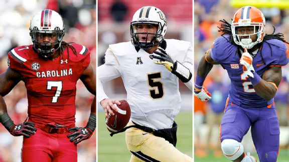 Jadeveon Clowney, Blake Bortles, and Sammy Watkins