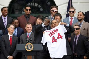 Red Sox at the White House