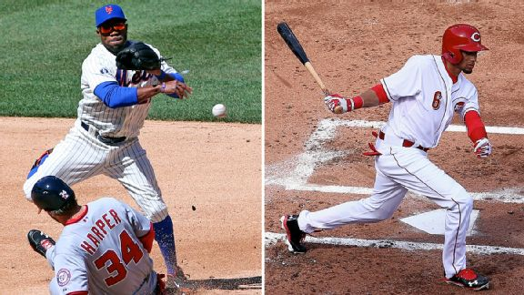 Eric Young Jr. and Billy Hamilton