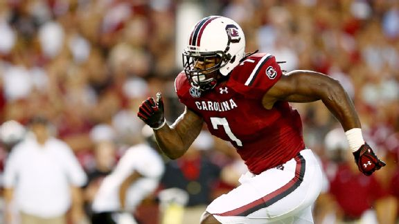 Coach defends Clowney's work ethic
