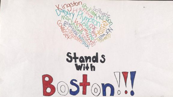 Boston Marathon tribute sign