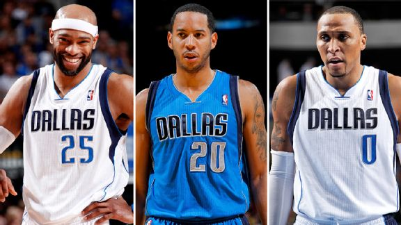 Vince Carter, Devin Harris, and Shawn Marion