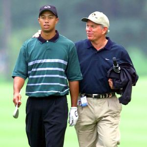 Tiger Woods and Natalie Gulbis trained with Butch Harmon (right), at the same time.