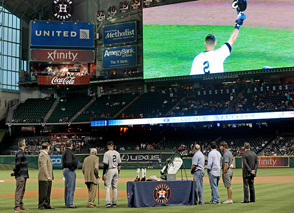 The retirement ceremony for the New York Yankees' Derek Jeter at the Houston Astros