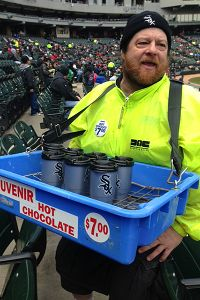 U.S. Cellular Field hot chocolate vendor