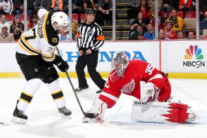 Patrice Bergeron, Jimmy Howard