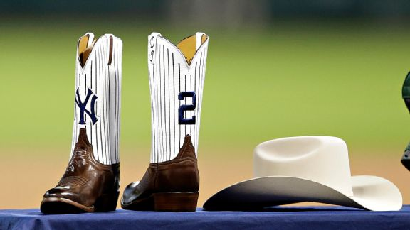 The New York Yankees' Derek Jeter's gifts from the Houston Astros