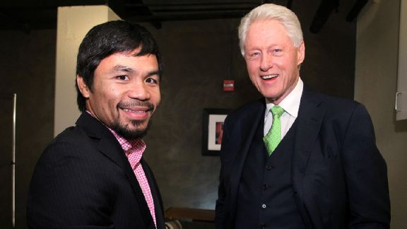 Manny Pacquiao and Bill Clinton