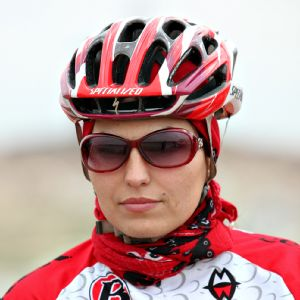 Marjan Sadeqi was attacked by men on motorbikes during a training ride.