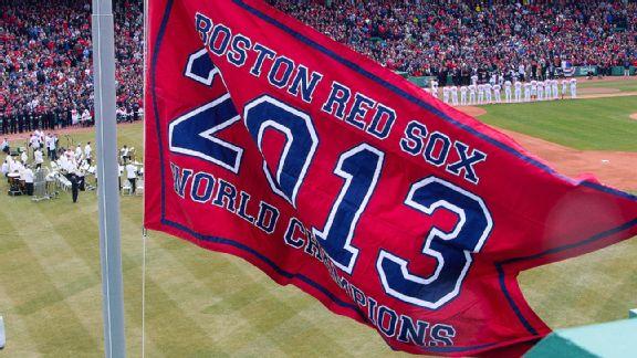 Boston Red Sox World Champions flag