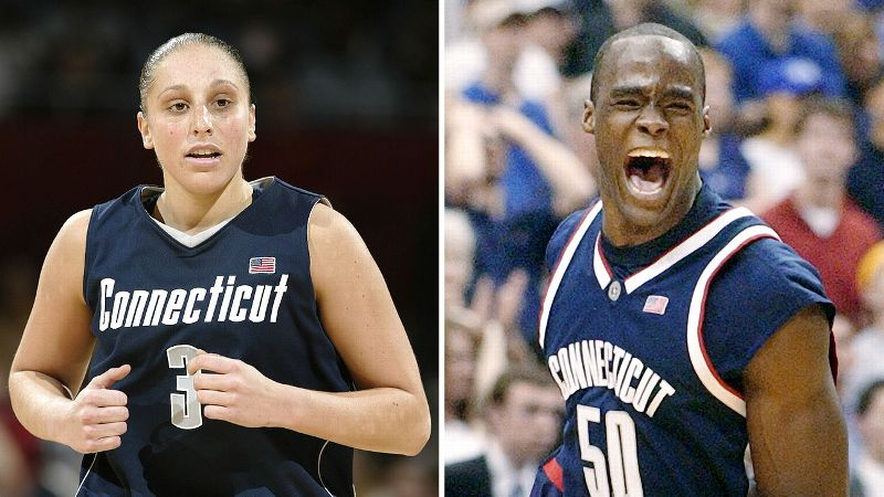 Diana Taurasi and Emeka Okafor brought back-to-back days of joy to Connecticut fans in April of 2004 when both the men's and women's basketball teams won NCAA championships.