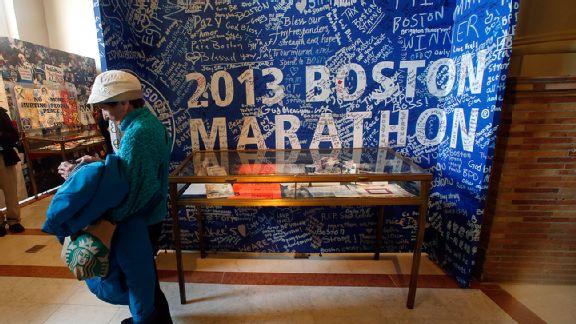 Dear Boston Marathon display