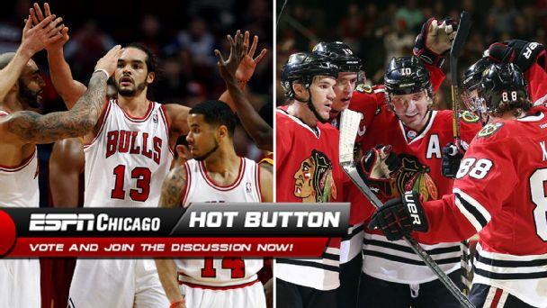 Chicago Bulls and Chicago Blackhawks