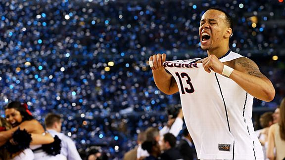 Shabazz Napier #13 of the Connecticut Huskies